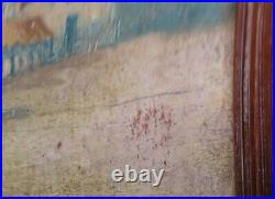 1800's Historical Painting. Mission San Francisco De Asis California Signed