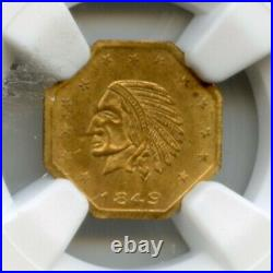 1849 California Gold Token Bear #5 13 Stars / NGC MS65 Pop 3, Only 1 Finer