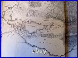 1853 orig LG Explorations & Surveys in California map San Francisco San Diego RR