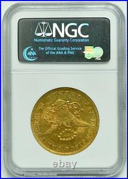 1854 $20 Kellogg & Co. Liberty Head California Gold Double Eagle NGC AU-58 withCAC