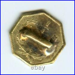1854 Oct Lib California Gold / BG-108 Better Period One Made into a Button