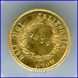 1854 Rd Lib G50C California Fractional Gold / MS-65 PCGS BG-1304A