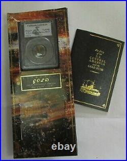 1857 Gold S S Central America California Gold Rush Pinch / Nuggets Pcgs + Cachet