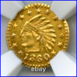 1860 California Gold Token Wreath #4b / NGC MS64 Only 4 Certified HR7