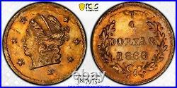 1866 Rd Lib G25C California Gold / BG-804 PCGS MS62 Di Pierro Collection