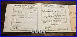 1870 C. P. R. R. V & T California Railroad Ticket Unused Sanfrancisco Ca Carson Nv