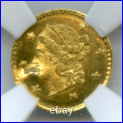 1870 Rd Lib G25C California Gold / BG-808 NGC UNC