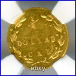 1871 Rd Lib G25C California Fractional Gold / BG-838 NGC UNC