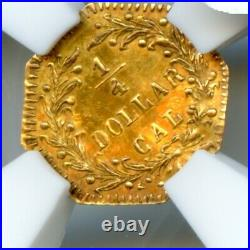 1874 Oct Ind G25C California Gold / BG-795 NGC Rotated Die