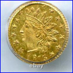 1875 Rd Ind G25C California Gold / BG-878 PCGS MS63 / Die State III