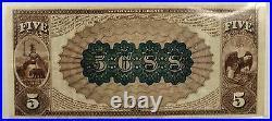 1882 $5 National Currency Western Bank San Francisco California CH# 5688- WW