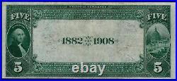 1882 $5 Wells Fargo Nevada NB of San Francisco California PMG 35 Fr. 537 CH#5105
