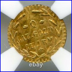 1883 California Gold / Gold Miner with Pick Q RD / NGC MS65 LR7 / Top Pop