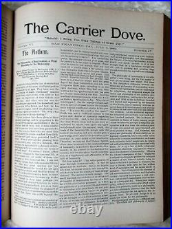 1889 CARRIER DOVE OCCULT SPIRITUALIST MYSTIC FEMINIST REFORM Weekly 52 ISSUES