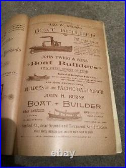 1895 LANGLEYS SAN FRANCISCO California CITY DIRECTORY & ADS 1700 Pages! MASSIVE