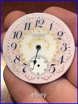 18s PORTUGUESE MERC. CO. San Francisco CALIFORNIA Prvt Label Pocket Watch DIAL