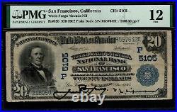 1902 $20 Wells Fargo Nevada NB of San Francisco California PMG 12 Fr. 658 CH#5105