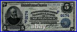 1902 $5 Anglo & London Paris NB of San Francisco California PCGS 40 PPQ CH#9174