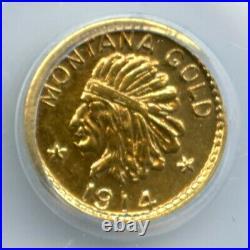 1914 G50C ME Hart Montana Gold(California Gold) / X-Tn2 PCGS MS64