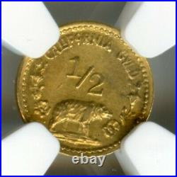 1915 1/2 California Gold Minerva Round, Hart's Coins of the West / NGC MS64 R6