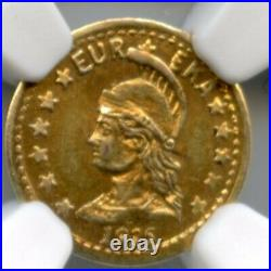 1915 1/2 Minerva California Gold / Harts Coins of the West / CMRH-2 NGC MS63 R6
