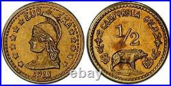 1915 G50C Calif Gold Hart's Coins of the West / PCGS X-Tn1 MS62 CMRH-2 POP2 R6