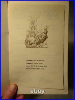 1925 RARE Thanksgiving Day Menu ALCATRAZ ISLAND San Francisco Ca. MILITARY LIST
