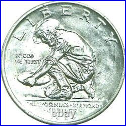 1925-S 50C California Diamond Jubilee Commemorative Silver Half Dollar AU Detail
