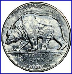 1925-S 50C California Silver Commemorative Half Dollar BU