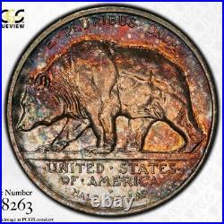 1925-S CALIFORNIA 50c PCGS MS 65 GEM COMMEMORATIVE HALF DOLLAR COLOR COIN