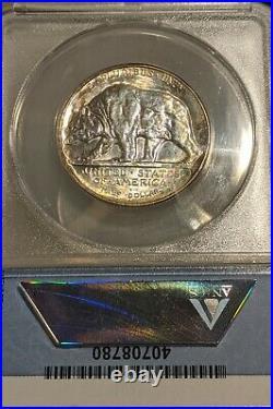 1925-S California Commemorative Half Dollar ANACS MS 62 Certified. Colorful