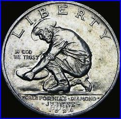 1925-S California Commemorative Half Dollar Silver - GEM BU++ - #X202