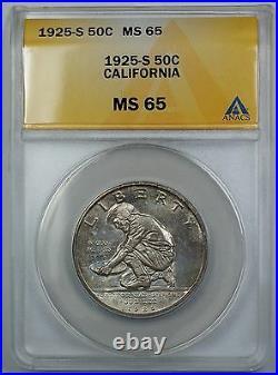 1925-S California Commemorative Silver Half Dollar ANACS MS 65 Toned