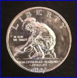 1925-S California Diamond Jubilee Classic Commemorative Silver Half Dollar 50c