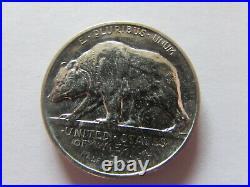 1925 S California Prospector Bear Commemorative Half Dollar 50 Cents Silver Coin