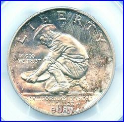 1925-S California Silver Commemorative Half Dollar, PCGS MS66, Beautiful Toning