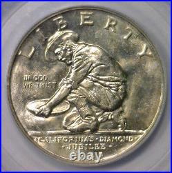 1925 S California Silver Commemorative Half Lustrous PCGS MS64 MS 64 CAC (#9014)