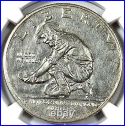 1925-S United States California Silver Comm Half Dollar NGC UNC DETAILS
