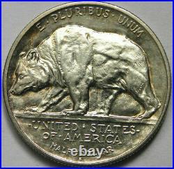 1925-s California Commemorative Half Dollar Choice Bu Light Toning