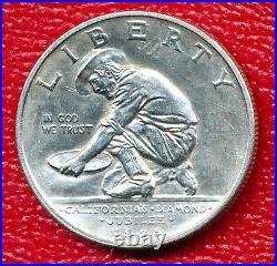 1925-s California Silver Commemorative Half Dollar Choice Bu Free Shipping