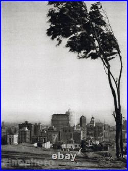 1926 CALIFORNIA San Francisco Telegraph Hill By HOPPE