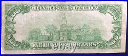 1928 Franklin 100 Dollar Bill Banknote Payable In Gold San Francisco, California