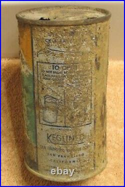 1930s ALPEN GLOW Beer, IRTP O/I, Flat top beer can, San Francisco, California