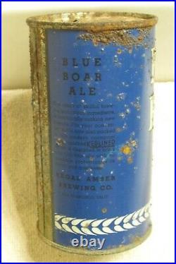 1930s BLUE BOAR ALE, O/I IRTP flat top beer can, San Francisco California