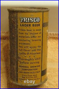 1930s FRISCO LAGER Beer IRTP O/I FT General San Francisco California