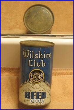 1930s WILSHIRE CLUB Beer, IRTP O/I, Flat Top beer can, San Francisco California