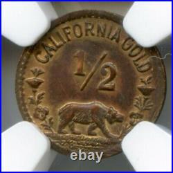 1932 1/2 California Gold LA Olympics Sprinter / NGC AU58 Scarce R6