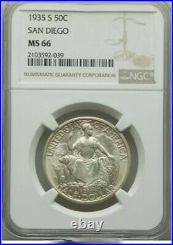 1935-S 50C California Pacific International Exposition half dollar NGC MS66