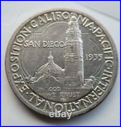 1935-S San Diego Commemorative Half Dollar Uncirculated Toned MS California Expo