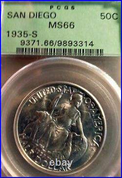 1935-S U. S. 50¢ San Diego California-Pacific Expo Half Dollar PCGS MS66 OGH